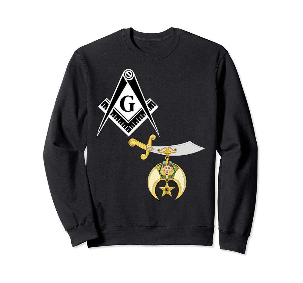 Hoodie mit Stickerei Damen Crewneck Sweatshirt Freimaurer Past Master Freem