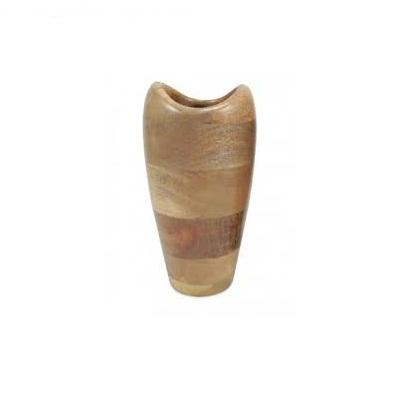 Home Decor mango wood round shape flower vase