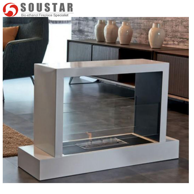 Free Standing Stainless Steel Ethanol Courtyard/Garden/Outdoor Fireplace Soustar