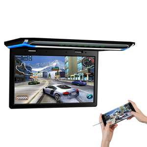 XTRONS 15.6 inch Full HD LCD Screen Ceiling Mount Lift Flip Down Car Monitor Support Digital TV Box
