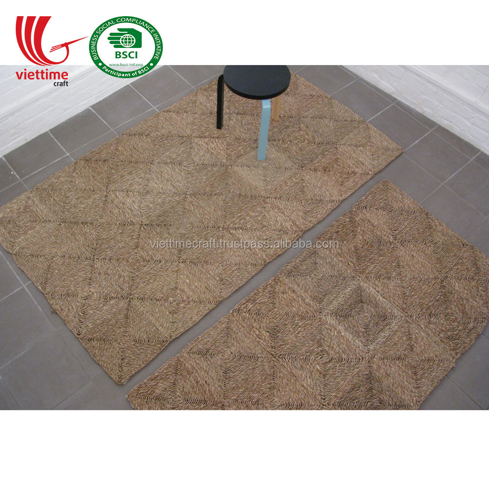 Design 2019 Unique Straw Carpet Seagrass Rug Wholesale Made in Vietnam