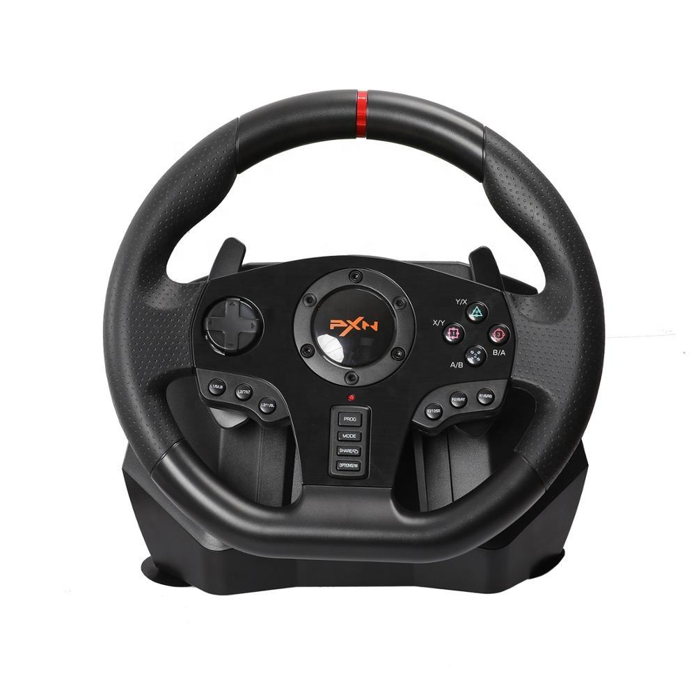 Dual-Motor Feedback Rijden Force 360 Graden Gaming Racestuur Met Responsieve Pedalen Voor Playstation 4 Switch Pc