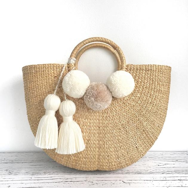 2019 ladies handmade bags simple straw bag high quality ecofriendly