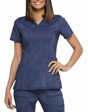 Scrub uniform. Denim fabric scrub uniform for woman