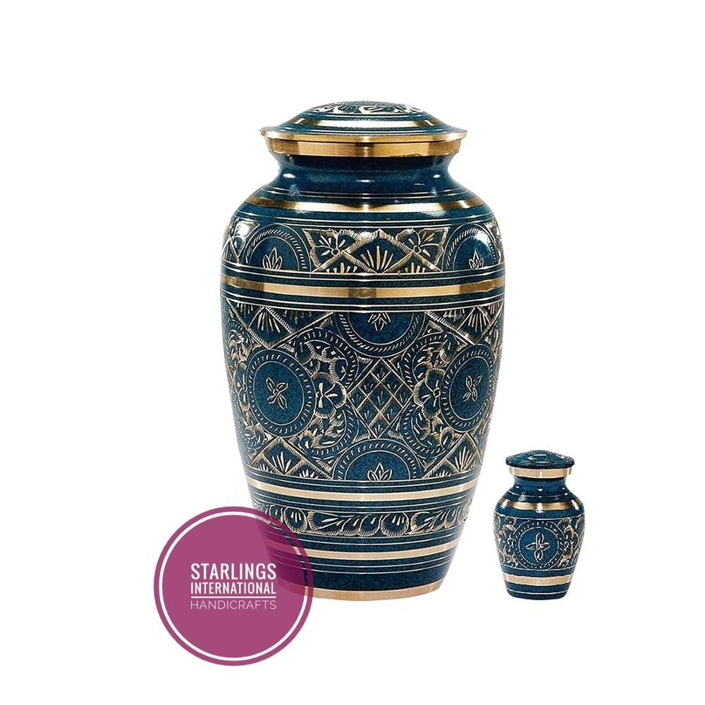 Cremation Urn (Handcrafted Caribbean Blue)