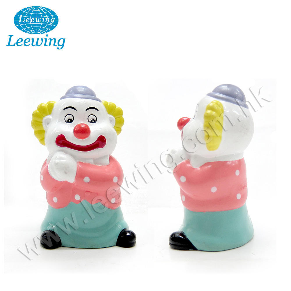 Circus Creative Promo Game Booth Prize Gift Item Plastic PVC Vinyl Kids Safe Funny Clown Money Saving Box Coin Bank Piggy Bank