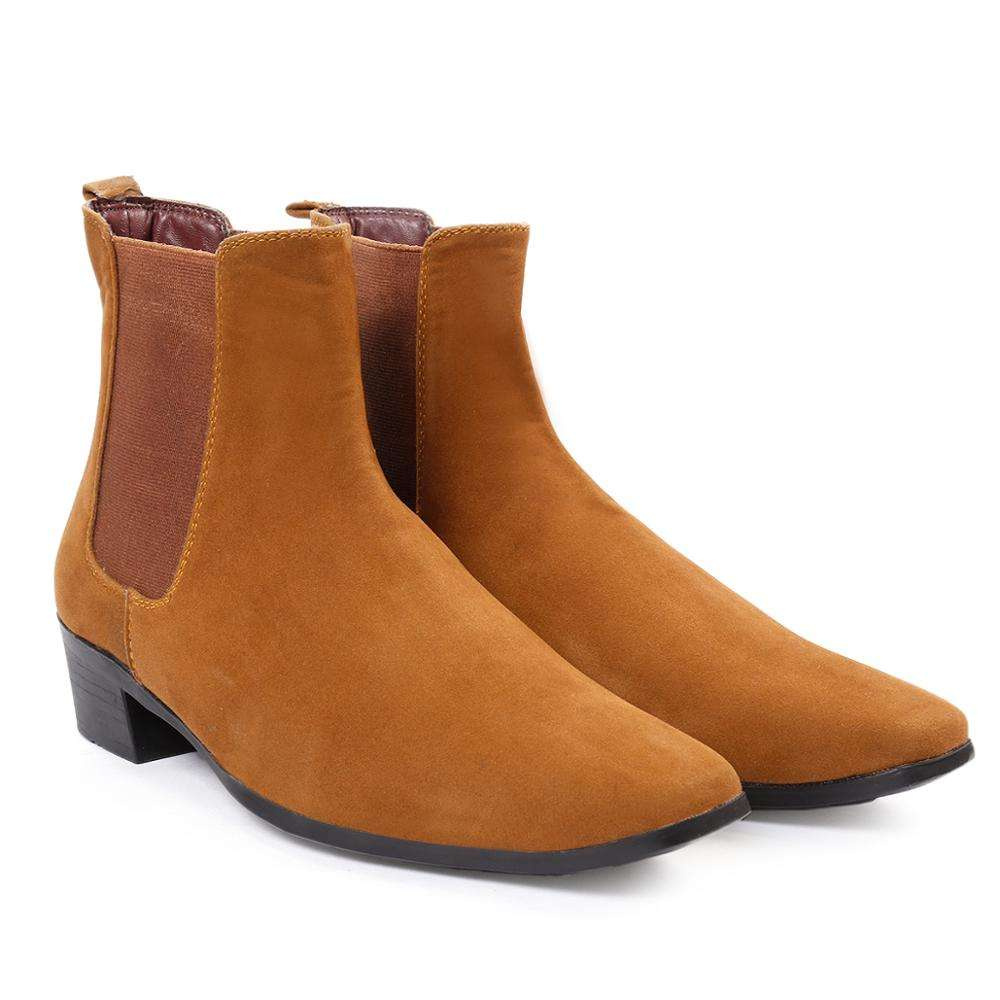 Height Increasing Elevator Men`s Chelsea Boots
