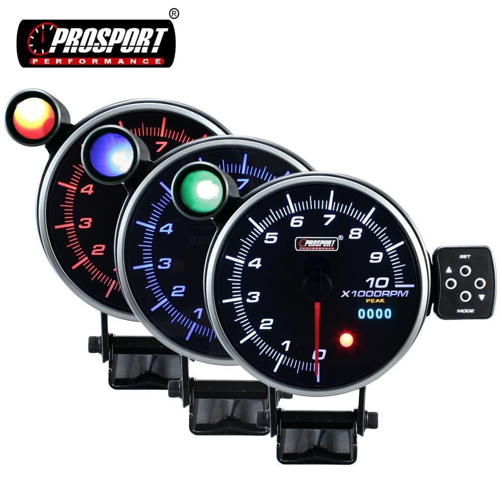 Tac/ómetro Veloc/ímetro del coche 0-6000 Rpm 2in 12V 6K Coche Diesel Motor Tac/ómetro Indicador Negro Auto Medidor impermeable