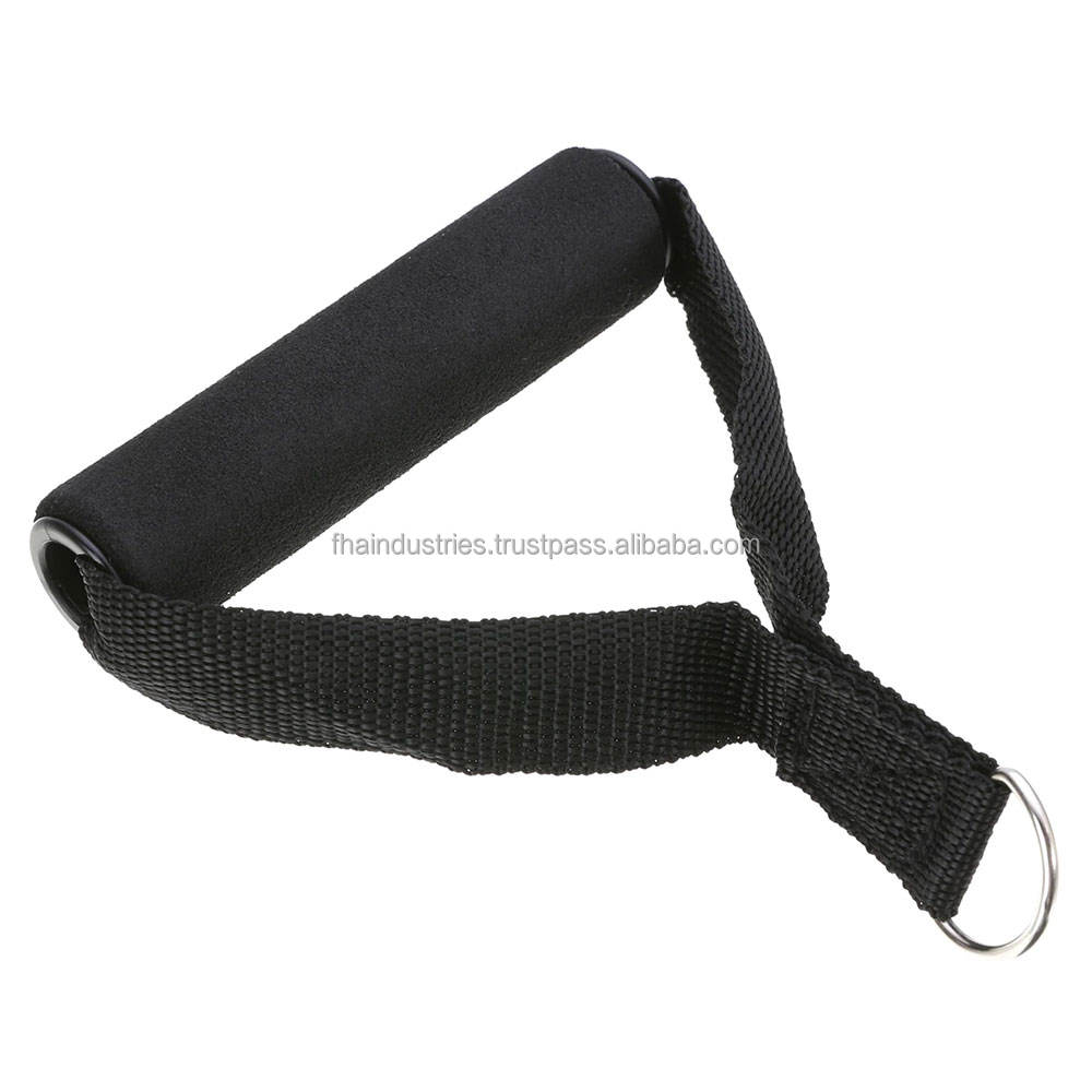 Cable Attachments Soft Handle Stirrup Grips Long Strap with D Hook For Gym Exercise Workout Training Gym Accessories