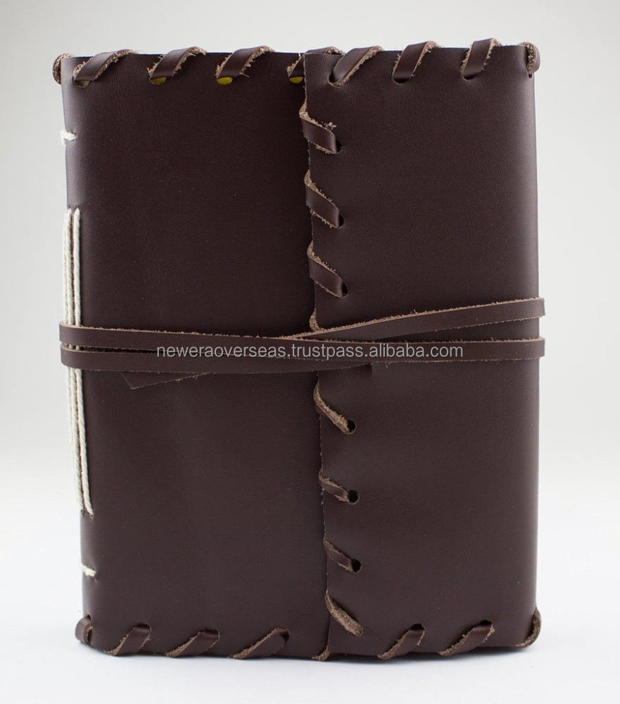 Leather Bound Journal sketch note book for gift him or her