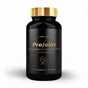 Gold Pro Joint Food Supplements Vitamin C Glucosamine - Round Premium Bottle - Private Labelled - Wholesale Diet Supplements