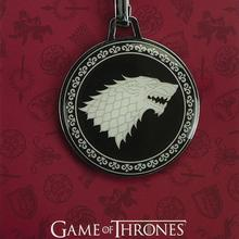 Game of Thrones Black Stark Medal Keychain