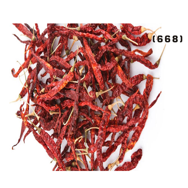 High Quality Indian Byadgi Dried Red Chilli 668 with Stem