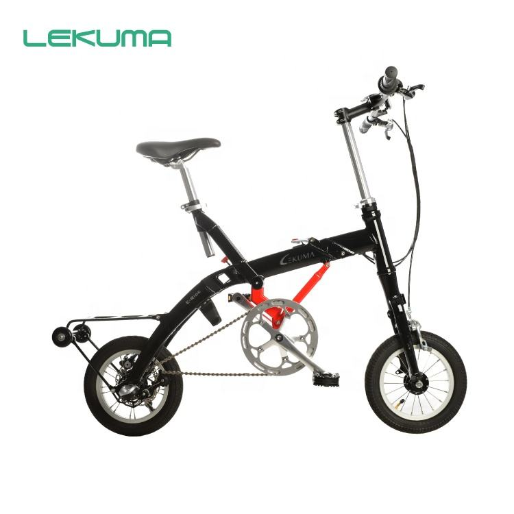 "12"" new design light weight aluminum alloy vertical folding bike"