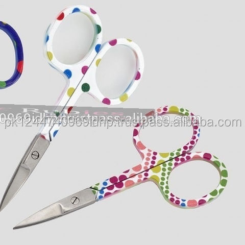 3 pieces of stainless steel cuticle nail scissors in different paper coated