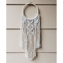 Indian Handcrafted 100% Cotton Macrame Wall Hanging Round Dream Catcher Boho Room Decor