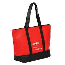 Custom Promotional Print non woven Zipper Tote Bag For Shopper non woven tote bag non woven beach bag