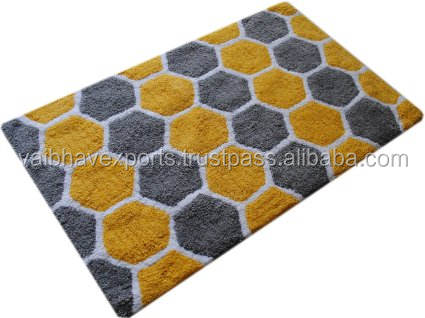 Modern look Cotton Tufted Bath Mat Supplier India