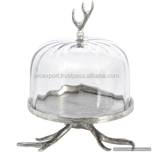 antique stand bowl with glass lid
