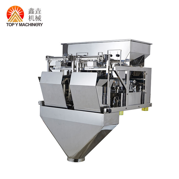 Coffee Bean Soy Detergent Powder 5L Bucket 2 Head Linear Mutilhead Weigher For Packing Machine