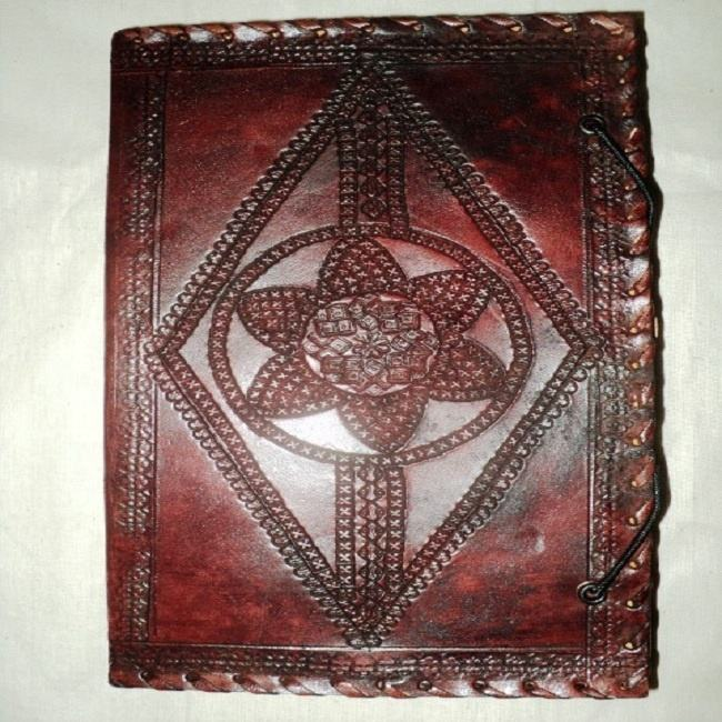 carved indian leather covers notebook mix match designs