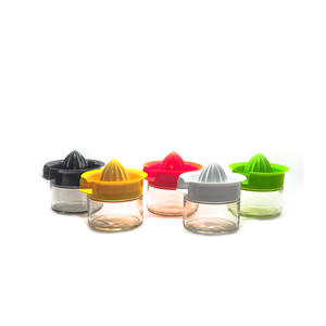 Manual Fruit Squeezer Glass Citrus Juicer Colour Plastic Top