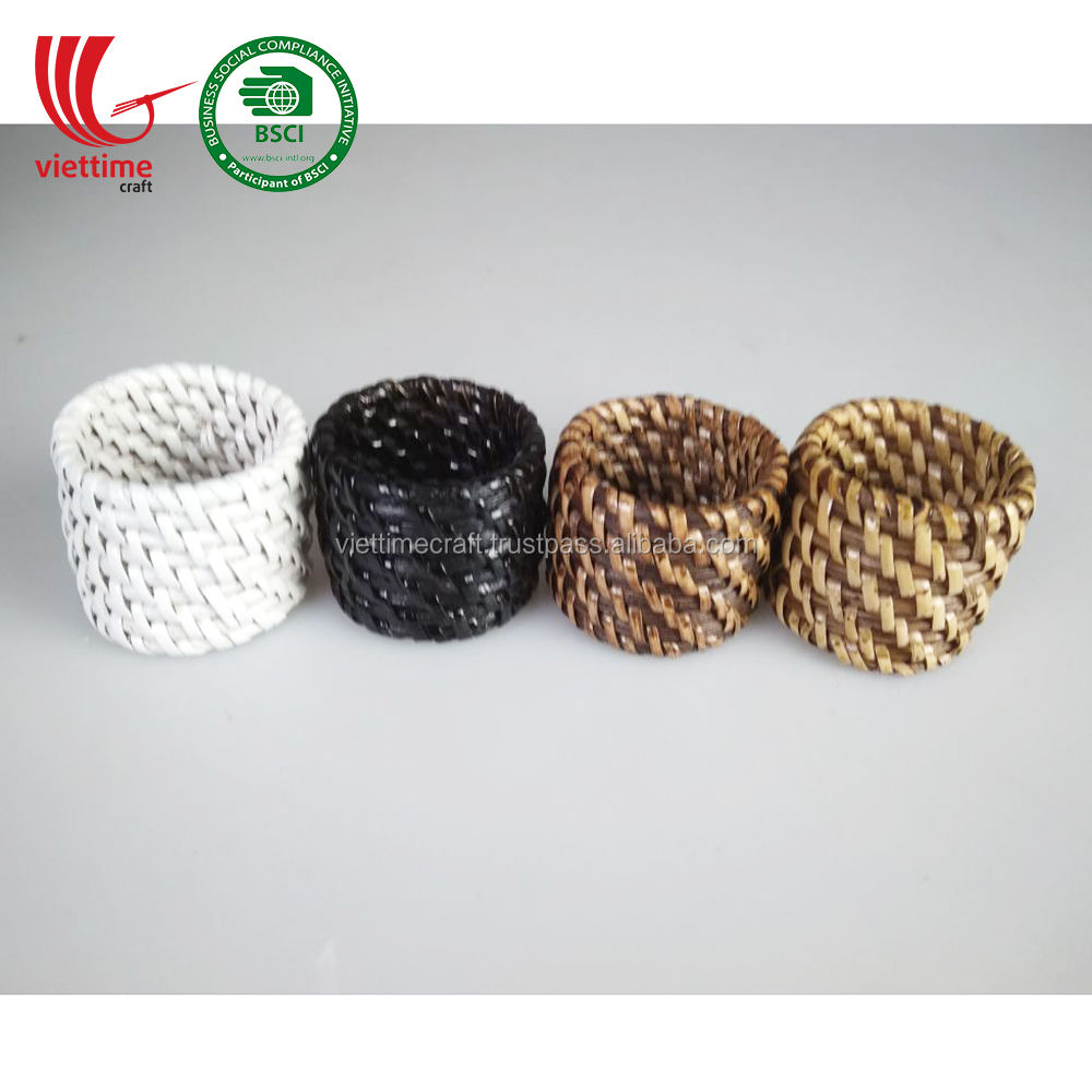 Natural Rattan Napkin Ring Holder SET 4 pcs Wholesale