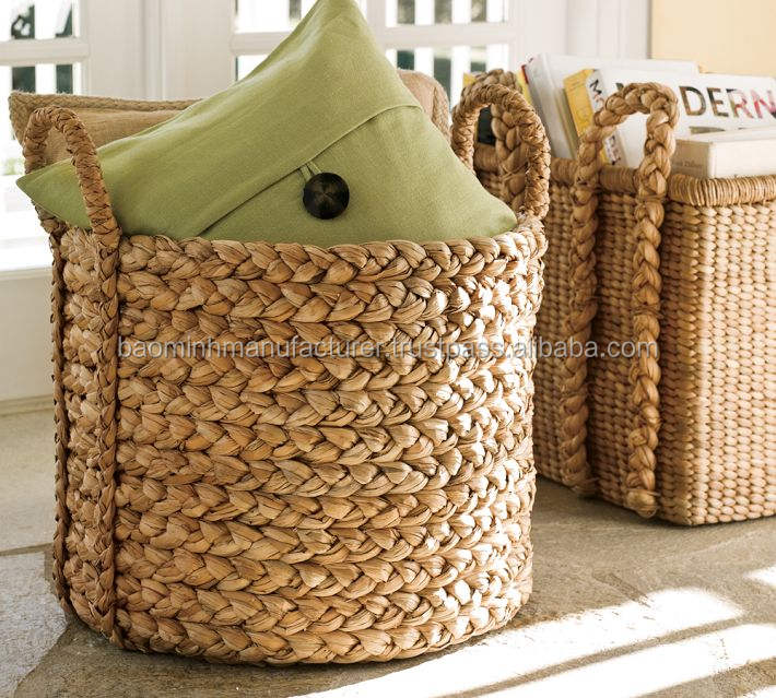 Cheap and good quality water hyacinth basket wicker basket