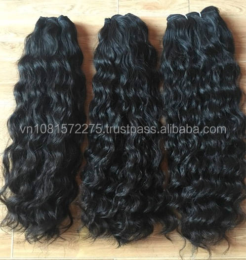 Best selling hair extension 100% virgin Brazilian hair natural beautiful color wavy cheap human hair