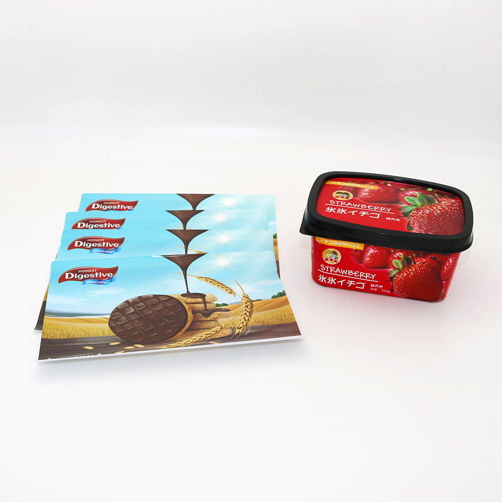 BOPP In mould label for biscuit, customized IML for ice cream