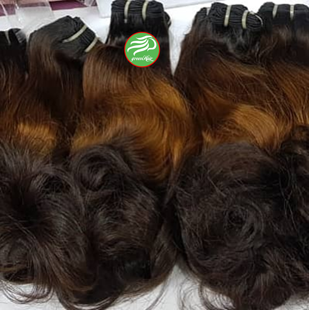 Top Sale Ombre Caramel With Brown Color Human Hair Bundles With Matching Closure Can Mix Length Full To The End From Greenhair