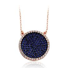 Round 925K Sterling Silver Necklace ZN-664