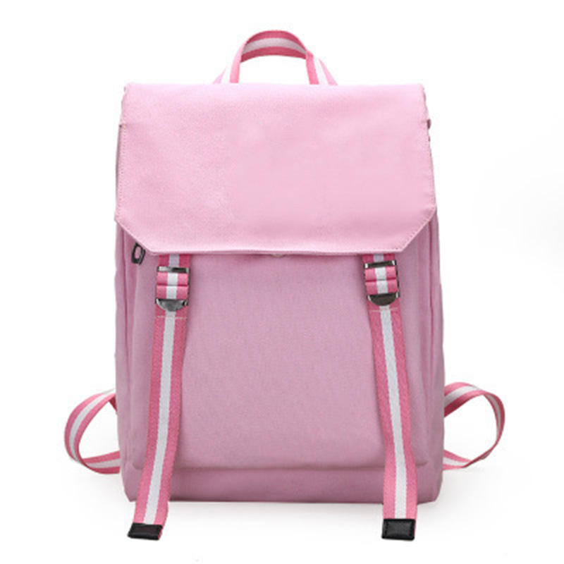 China Wholesale Girl's Fashion Backpack Blackpink Logo Backpack Student School Canvas Bag