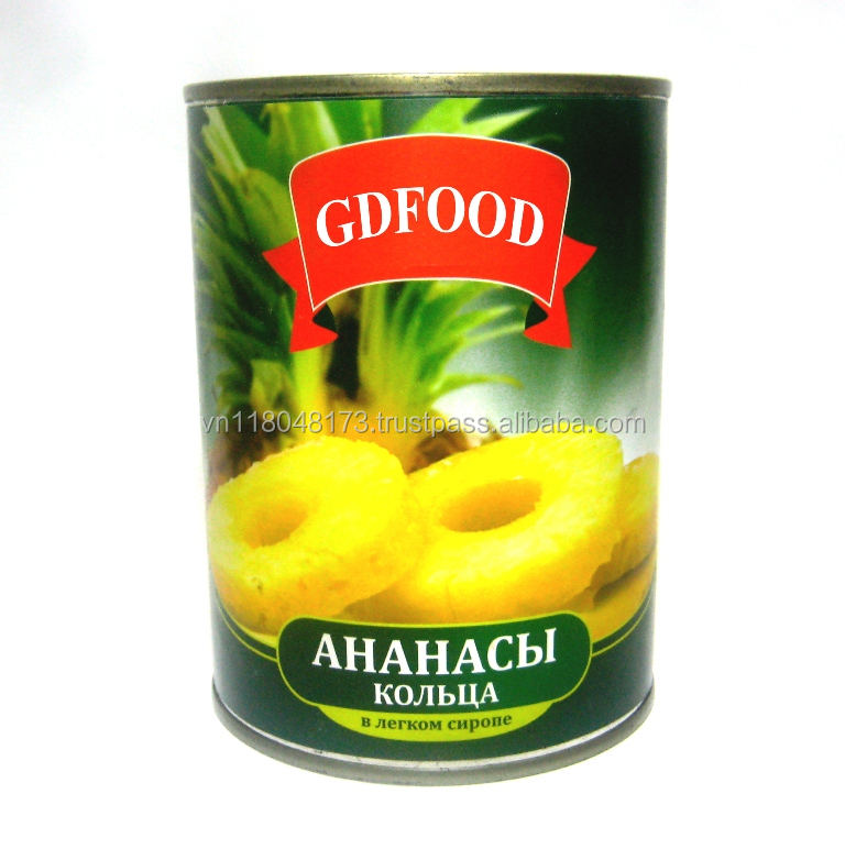 Canned slices pineapple in light syrup 580ml