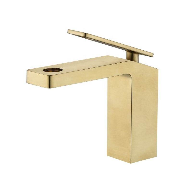 2019 latest styles single-lever Polished chrome brass bathroom basin faucet