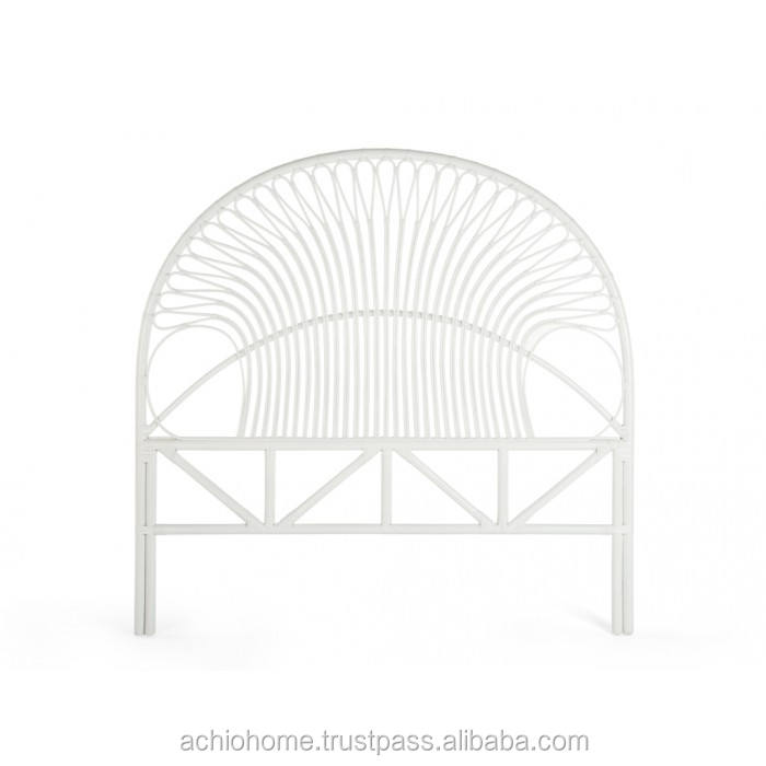 ACHIO Vietnam natural rattan headboard with white rattan construction and plastic strip SGS, INTERTEK (skype: rock4h)