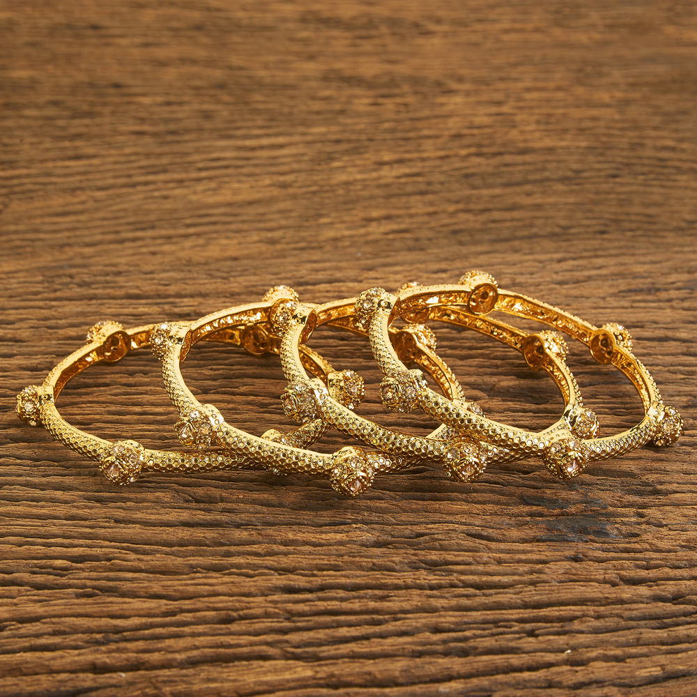 4 pc Classic Bangles With Gold Plating 18611 Lct