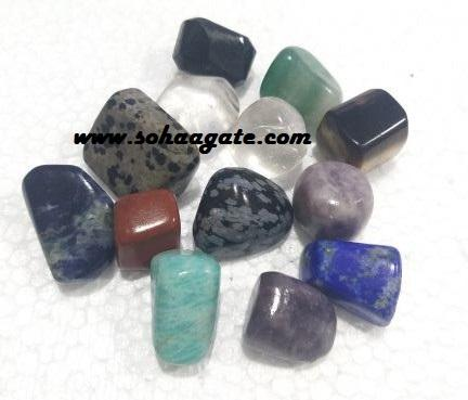 Beautiful Seven Chakra Tumble Stone : Wholesale Tumble Stone : Gemstone Tumble Stone