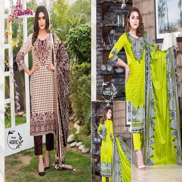 3-piece pakistani lawn suits / pakistani salwar kameez designs / pakistani printed lawn dresses