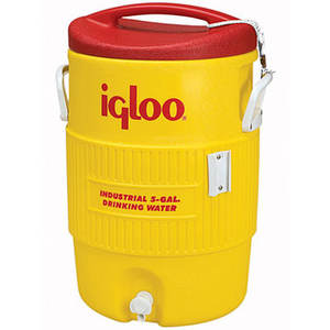 USA Made Igloo 5 Gallon Industrial Cooler (Yellow) - 20 quarts (18.9 liters), has UV inhibitors that protect against sun damage