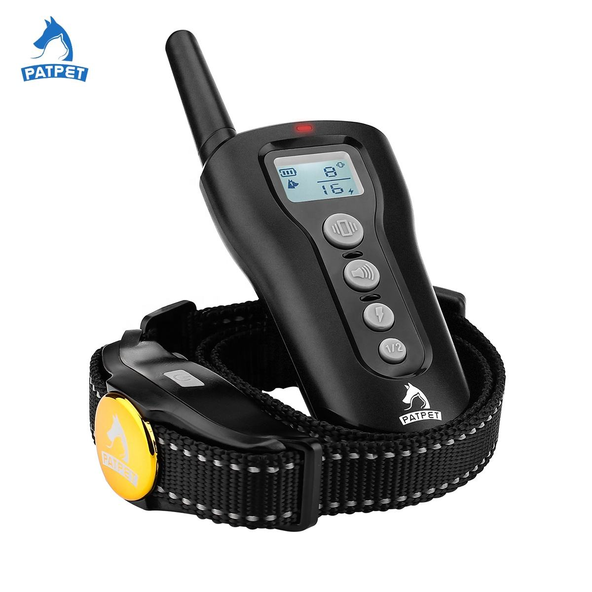Hot Sale Patpet Rechargeable Remote Electric Dog Training Collar Shock Dog Collar Cheap