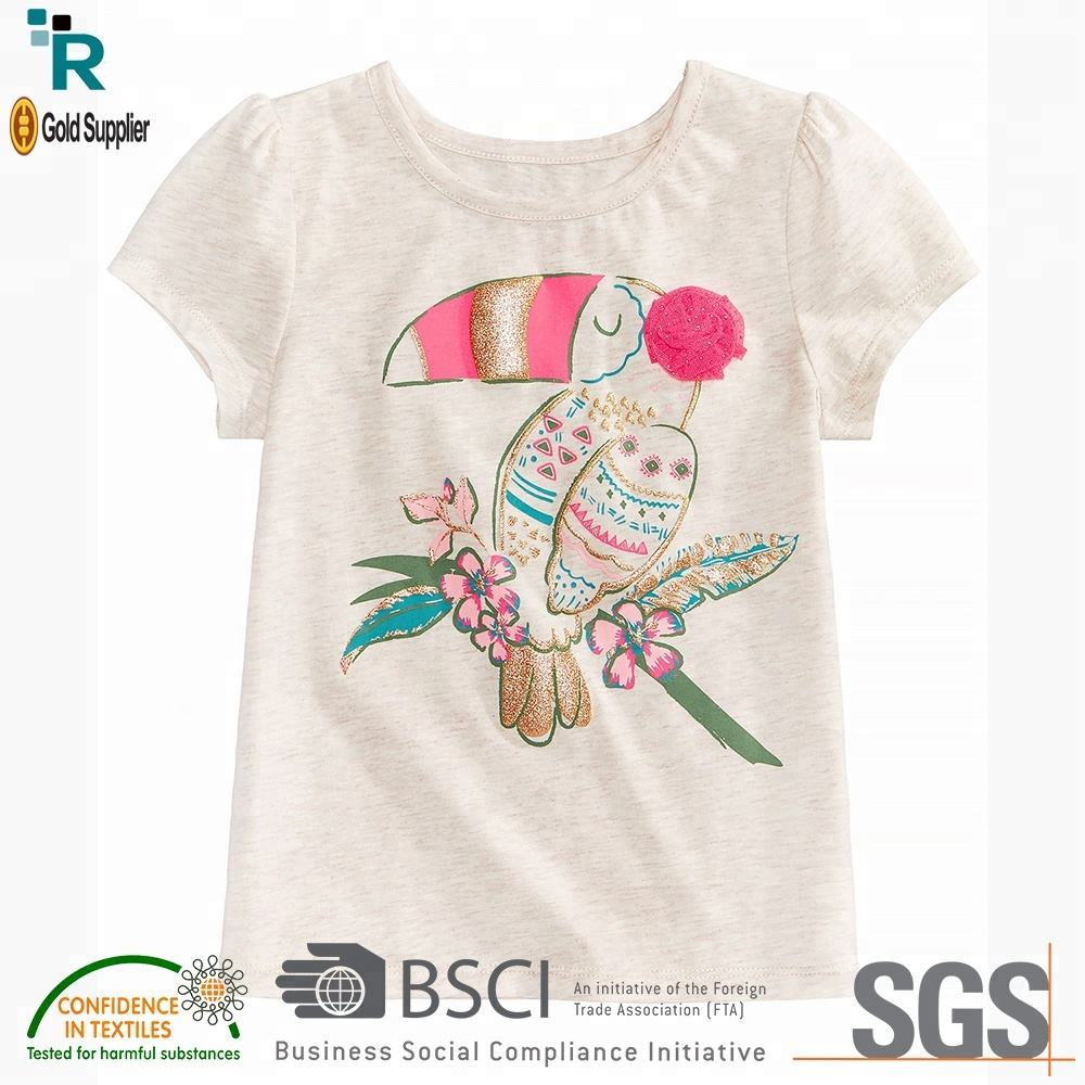 Trending products New arrival Girls latest design cheap custom kids wear baby boy t shirt