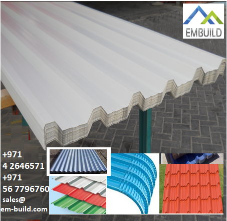 Steel/ Aluminum/ AluZinc ROOF sheets + 971 56 5478106