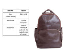 Wholesale Men & Women Leather Backpack Bag Ladies Zipper Back Pack