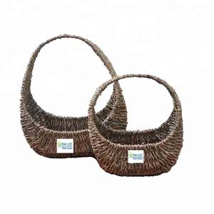 New design eco-friendly seagrass wicker woven storage seagrass hanging basket