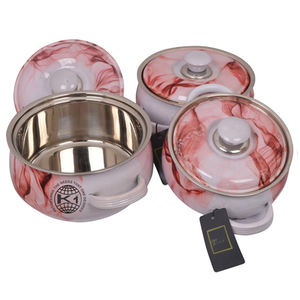 Stainless steel thermos insulated food casseroles