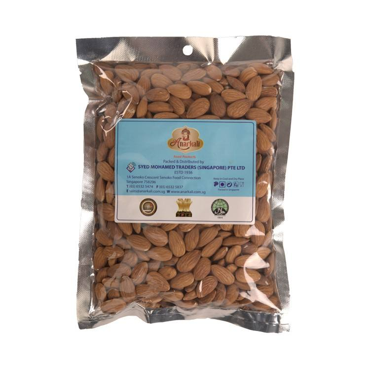 Almonds Dried Packed with Elongated Shape