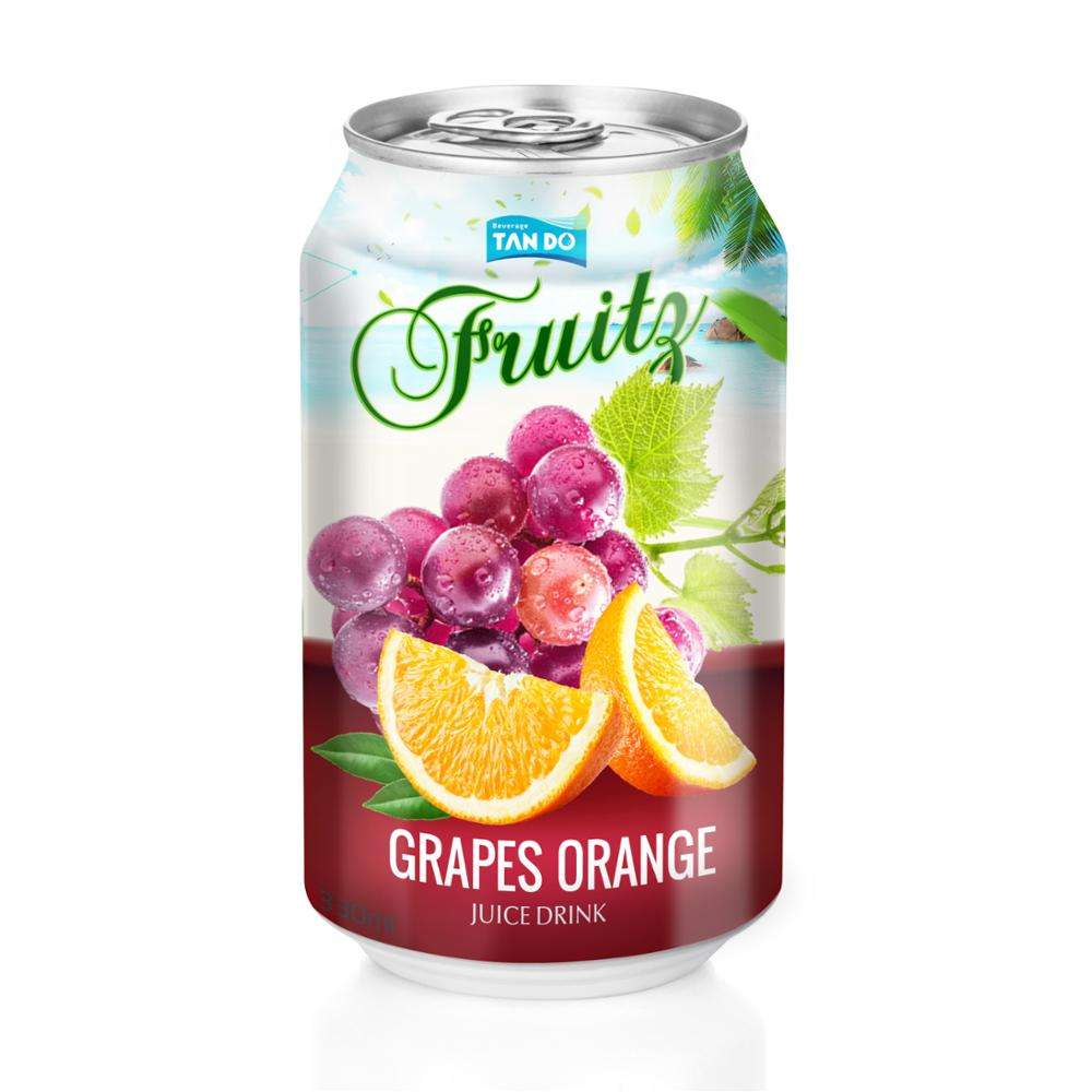 Vietnam tropical fruit juice manufacturer cocktail juice in 330ml can