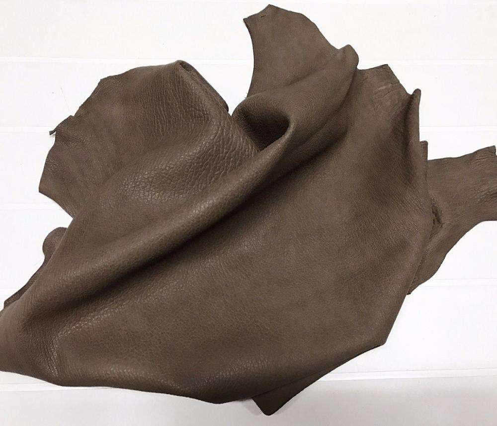 Lambskin vegetable tan leather skin skins WASHED GRAINY BROWN/ Exceptional quality quality by TAIDOC