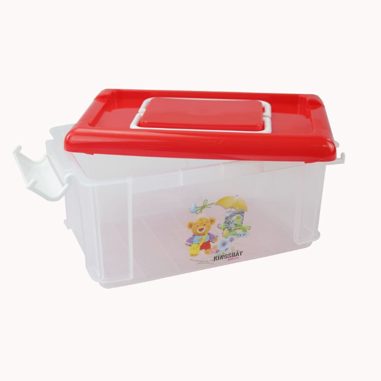 Wholesale 1800ml Food Packing Plastic Container Food Grade BPA Free 60oz Food Storage Container with handles and Snap Lock Lid